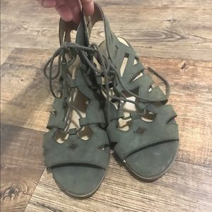 Olive Lace Up Sandal